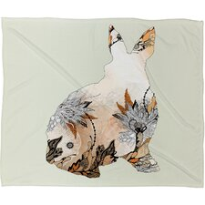 Iveta Abolina Little Rabbit Polyester Fleece Throw Blanket