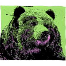 Romi Vega Bear Polyester Fleece Throw Blanket
