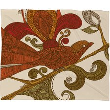 <strong>DENY Designs</strong> Valentina Ramos The Orange Bird Polyester Fleece Throw Blanket