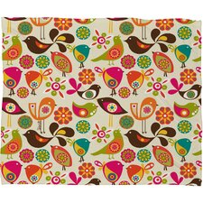 Valentina Ramos Little Birds Fleece Polyester Throw Blanket