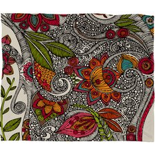 Valentina Ramos Random Flowers Polyester Fleece Throw Blanket