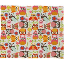 Valentina Ramos Cute Little Owls Polyester Fleece Throw Blanket
