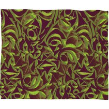 <strong>DENY Designs</strong> Wagner Campelo Abstract Garden Polyester Fleece Throw Blanket