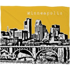 Bird Ave Minneapolis Polyester Fleece Throw Blanket