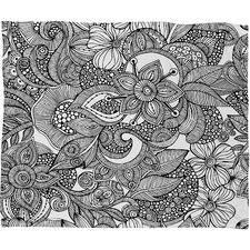 Valentina Ramos Doodles Polyester Fleece Throw Blanket