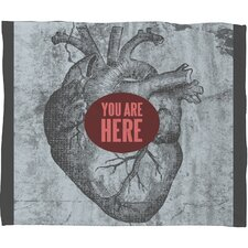 Wesley Bird You Are Here Polyester Fleece Throw Blanket