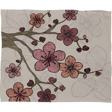 Valentina Ramos Blossom Polyester Fleece Throw Blanket
