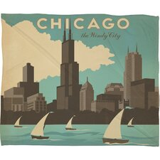<strong>DENY Designs</strong> Anderson Design Group Chicago Polyester Fleece  Throw Blanket