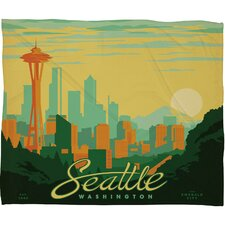 Anderson Design Group Seattle Polyester Fleece  Throw Blanket