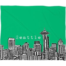 Bird Ave Seattle Polyester Fleece Throw Blanket