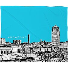 Bird Ave Ann Arbor Polyester Fleece Throw Blanket