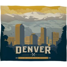 Anderson Design Group Denver 1 Polyester Fleece  Throw Blanket