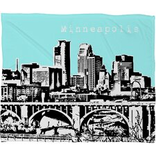 <strong>DENY Designs</strong> Bird Ave Minneapolis Polyester Fleece Throw Blanket