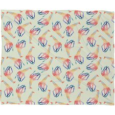 <strong>DENY Designs</strong> Jacqueline Maldonado Watercolor Giraffe Polyester Fleece Throw Blanket