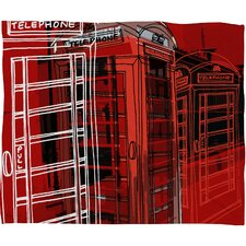 Aimee St Hill Phone Box Polyester Fleece Throw Blanket