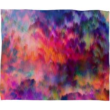 Amy Sia Sunset Storm Polyester Fleece Throw Blanket