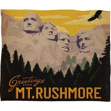 Anderson Design Group Nount Rushmore Polyester Fleece  Throw Blanket