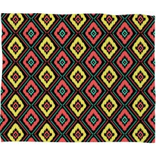 Jacqueline Maldonado Zig Zag Ikat Polyester Fleece Throw Blanket