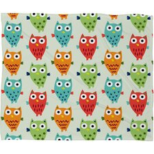 Andi Bird Polyester Fleece Throw Blanket