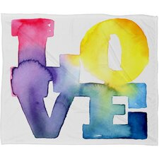 CMYKaren Love 4 Polyester Fleece Throw Blanket