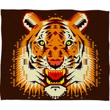 Chobopop Geometric Tiger Polyester Fleece Throw Blanket