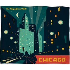 <strong>DENY Designs</strong> Anderson Design Group Chicago Mag Mile Polyester Fleece Throw Blanket