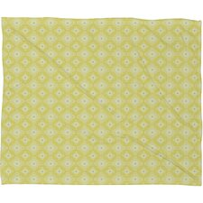 Caroline Okun Yellow Spirals Polyester Fleece Throw Blanket