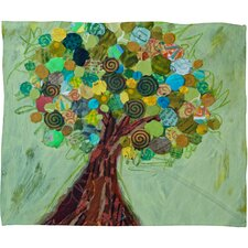 <strong>DENY Designs</strong> Elizabeth St Hilaire Nelson Spring Tree Polyester Fleece Throw Blanket