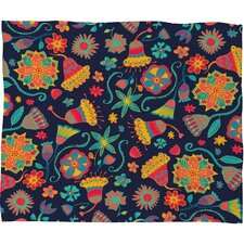 Arcturus Bloom 1 Polyester Fleece Throw Blanket