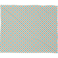 Tammie Bennett X Check Polyester Fleece Throw Blanket