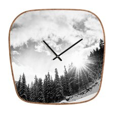 <strong>DENY Designs</strong> Bird Wanna Whistle Mountain Wall Clock