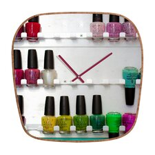 Bird Wanna Whistle Nail Polish Wall Clock