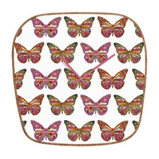 <strong>DENY Designs</strong> Bianca Green Butterfly Wall Clock