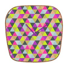 Bianca Green Ocean of Pyramid Wall Clock