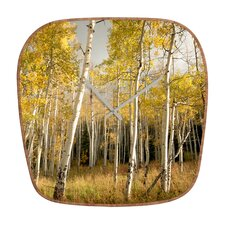 Bird Wanna Whistle Golden Aspen Wall Clock