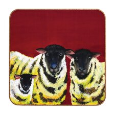 Lemon Spongecake Sheep by Clara Nilles Framed Graphic Art Plaque