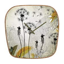 <strong>DENY Designs</strong> Iveta Abolina Little Dandelion Wall Clock
