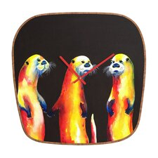 Clara Nilles Flaming Otters Wall Clock