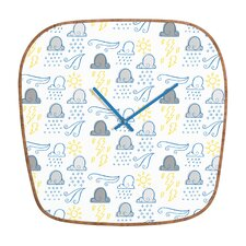 Jennifer Denty Clouds Wall Clock