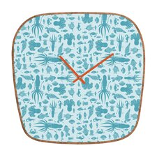 Jennifer Denty Sea Creatures Wall Clock