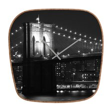 <strong>DENY Designs</strong> Leonidas Oxby Brooklyn Bridge Wall Clock