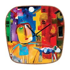 Robin Faye Gates Sylvia Needs Eggs Wall Clock