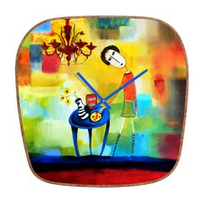 Robin Faye Gates Cheeze It Thank You Wall Clock