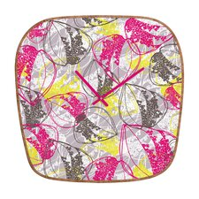 Rachael Taylor Retro Leaves Wall Clock