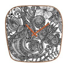 <strong>DENY Designs</strong> Valentina Ramos Bird and Flowers Wall Clock