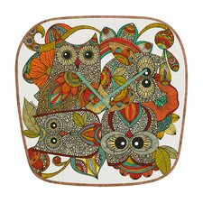 <strong>DENY Designs</strong> Valentina Ramos 4 Owls Wall Clock