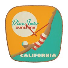 Anderson Design Group Dive California Wall Clock
