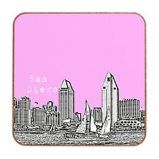 San Diego by Bird Ave. Framed Graphic Art Plaque