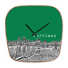 <strong>DENY Designs</strong> Bird Ave Portland Wall Clock