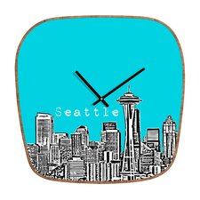 <strong>DENY Designs</strong> Bird Ave Seattle Wall Clock